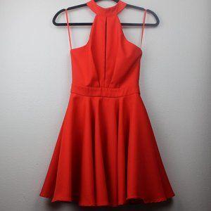 Red Halter Skater Dress| Lulu's